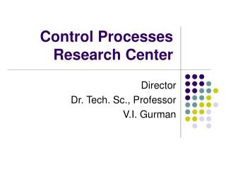 Control Processes Research Center