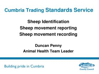 Cumbria Trading  Standards Service