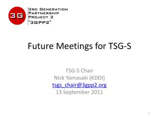 Future Meetings for TSG-S