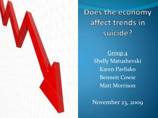 Does the economy affect trends in suicide?