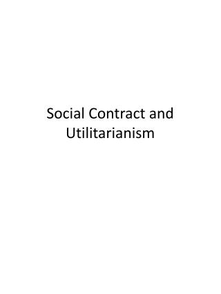 Social Contract and Utilitarianism