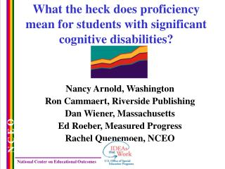 What the heck does proficiency mean for students with significant cognitive disabilities?