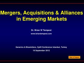 Mergers, Acquisitions & Alliances in Emerging Markets
