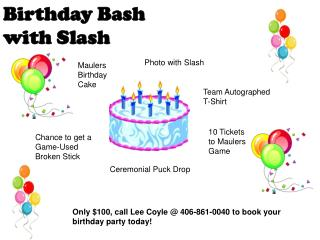 Birthday Bash with Slash