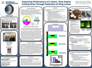 Improving Performance of a Heavy  Duty Engine Cooling Drive Through Reduction of Drag Losses