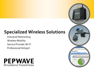 Specialized Wireless Solutions Industrial Networking Wireless Mobility Service Provider Wi-Fi