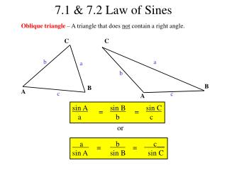 7.1 & 7.2 Law of Sines