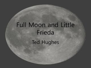 Full Moon and Little Frieda