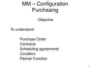 MM – Configuration Purchasing
