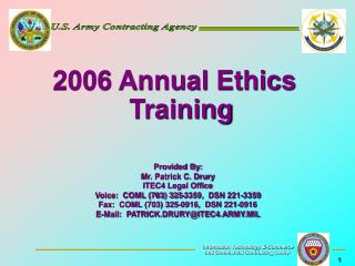 2006 Annual Ethics Training