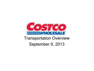 Transportation Overview September 9, 2013