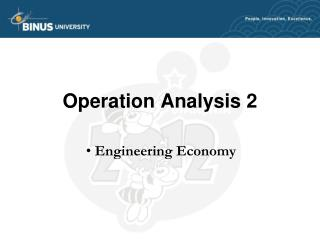 Operation Analysis 2