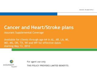 Cancer and Heart/Stroke plans