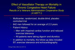 Effect of Vasodilator Therapy on Mortality in Chronic Congestive Heart Failure Results of a Veterans Administration Coop