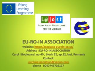 Learn about find ing  job s  for  the disabled Project L@JOST Leonardo Da Vinci Partnership