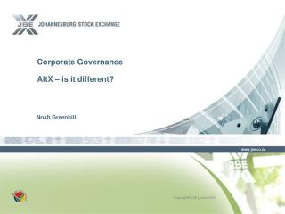 Corporate Governance  AltX – is it different?