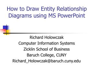 How to Draw Entity Relationship Diagrams using MS PowerPoint