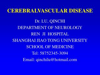 CEREBRALVASCULAR DISEASE