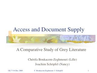 Access and Document Supply