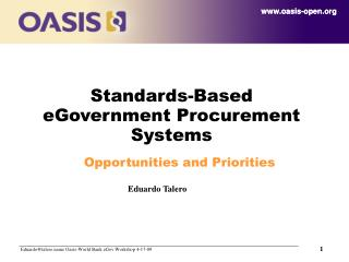 Standards-Based eGovernment Procurement Systems