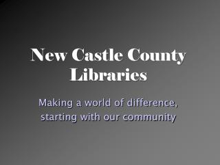 New Castle County Libraries