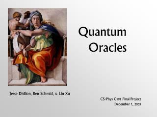 Quantum Oracles
