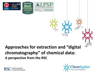 "Approaches for extraction and ""digital chromatography"" of chemical data:"