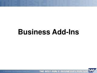 Business Add-Ins