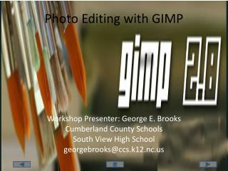 Photo Editing with GIMP
