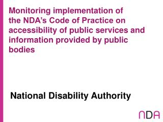 National Disability Authority