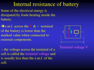 Internal resistance of battery