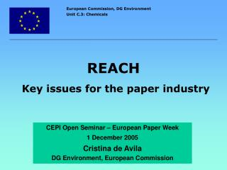 REACH Key issues for the paper industry
