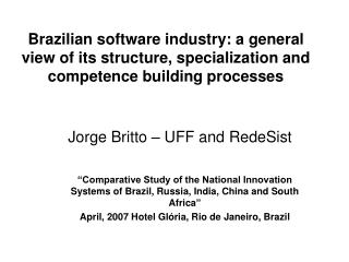 Jorge Britto – UFF and RedeSist