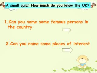 1.Can you name some famous persons in    the country