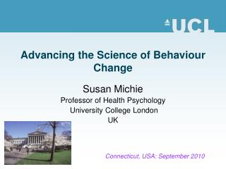 Advancing the Science of Behaviour Change