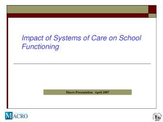 Impact of Systems of Care on School Functioning