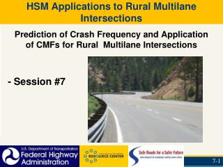 HSM Applications to Rural Multilane Intersections