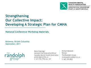 Strengthening  Our Collective Impact: Developing A Strategic Plan for CMHA