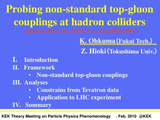 Probing non-standard top-gluon couplings at hadron colliders