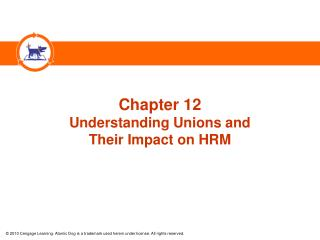 Chapter 12 Understanding Unions and  Their Impact on HRM
