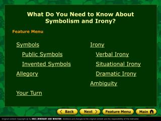 What Do You Need to Know About Symbolism and Irony?