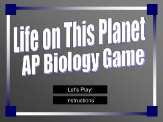 AP Biology Game