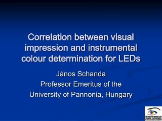 Correlation between visual impression and instrumental colour determination for LEDs