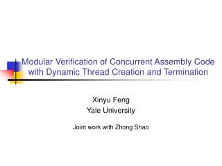 Modular Verification of Concurrent Assembly Code with Dynamic Thread Creation and Termination