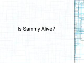Is Sammy Alive?