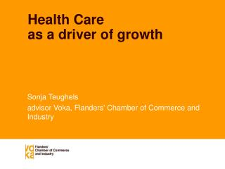Health Care as a driver of growth