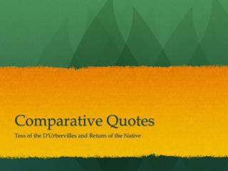 Comparative Quotes