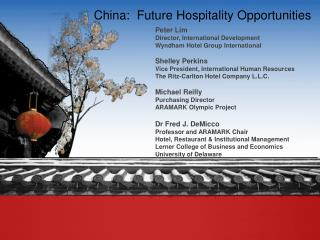 China:  Future Hospitality Opportunities