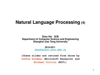 Natural Language Processing (4)