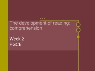 The development of reading: comprehension